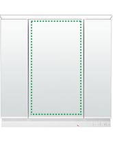 3面鏡LEDライン収納
